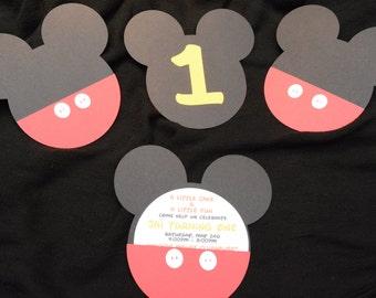 Birthday Invitations, Mickey Mouse Themed Birthday Invitations