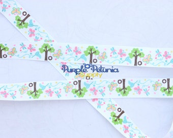 Glitter ribbon, tire swing ribbon, tree ribbon, love grows here grosgrain ribbon, grosgrain ribbon, butterfly ribbon, printed grosgrain