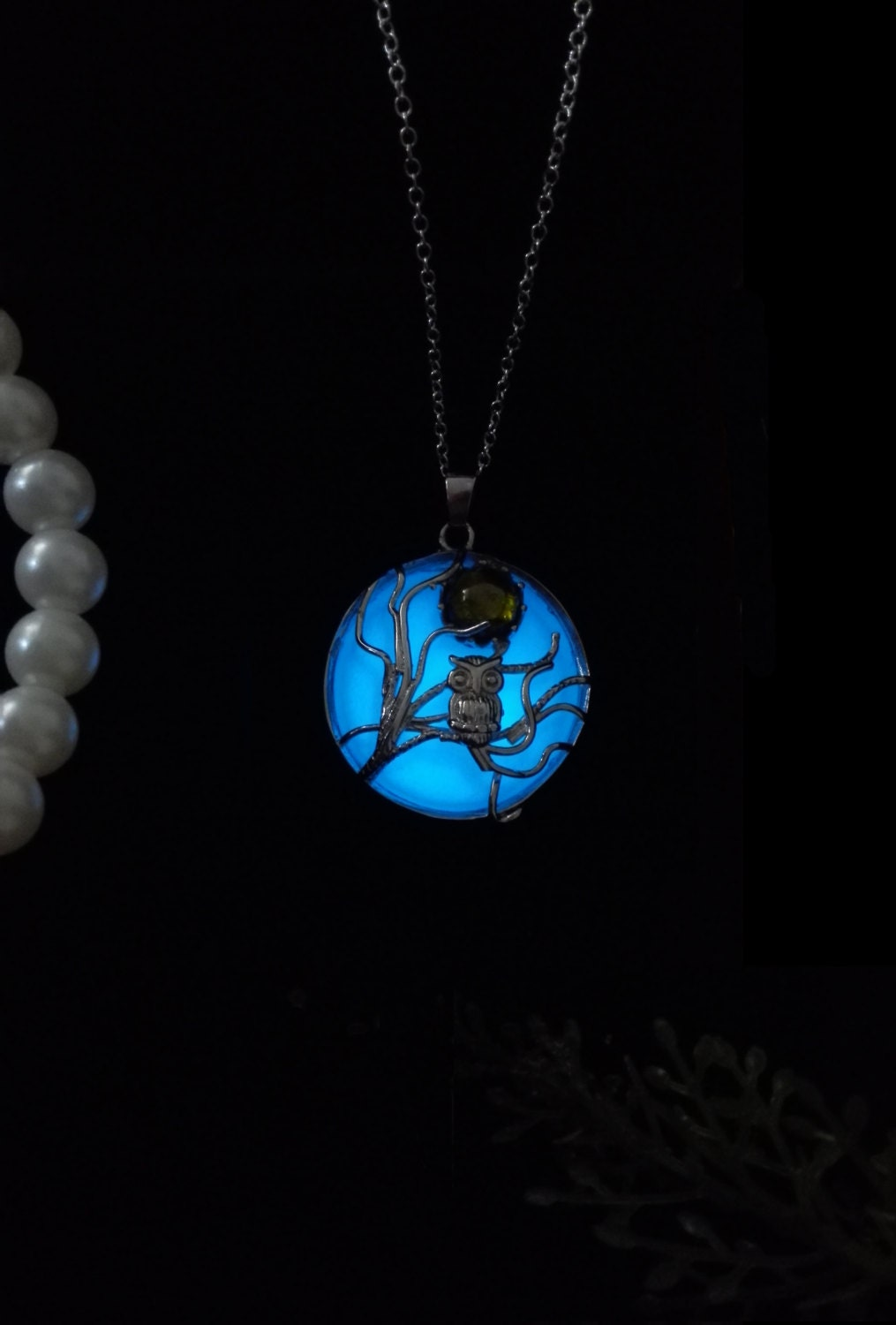 owl moon glow in the jewelry glow in the necklace