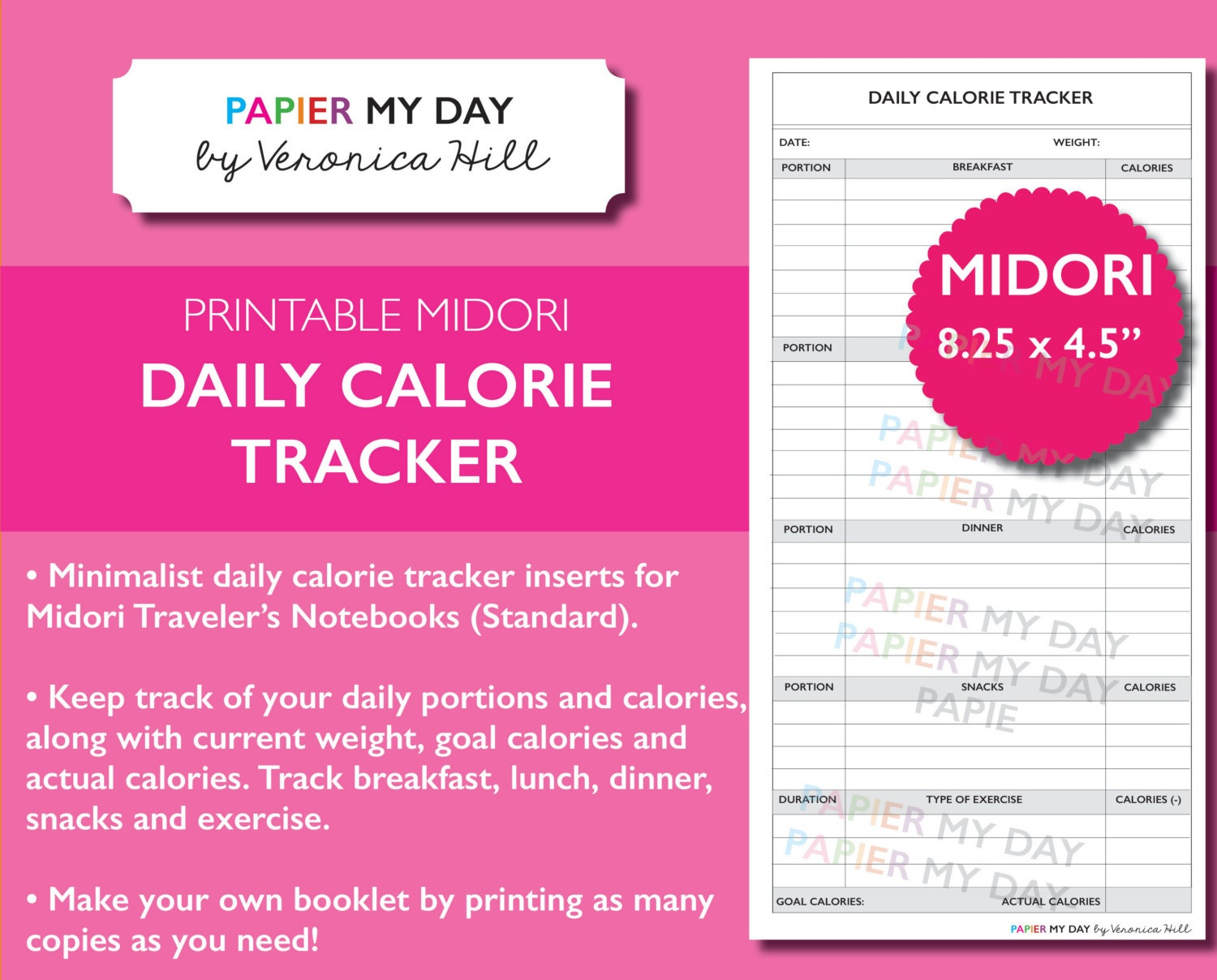 It is a graphic of Sizzling Printable Calorie Tracker