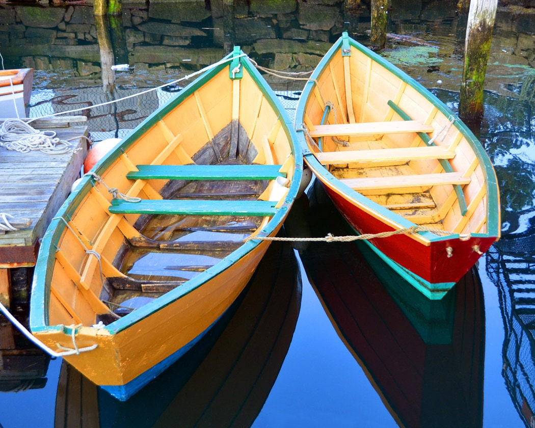 Colorful Row Boats Fine Art Photography Wall Photo Print
