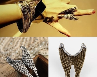 Maleficent Wings ring angel ring  Adjustable ring gold finish Steam punk wings ring Costume jewelry ring