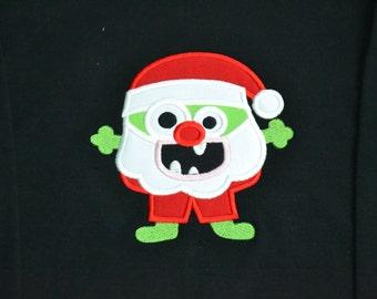 Santa monster shirt