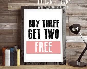 BUY 3 GET 2 FREE {any non custom prints} Julian & Jinks, printable