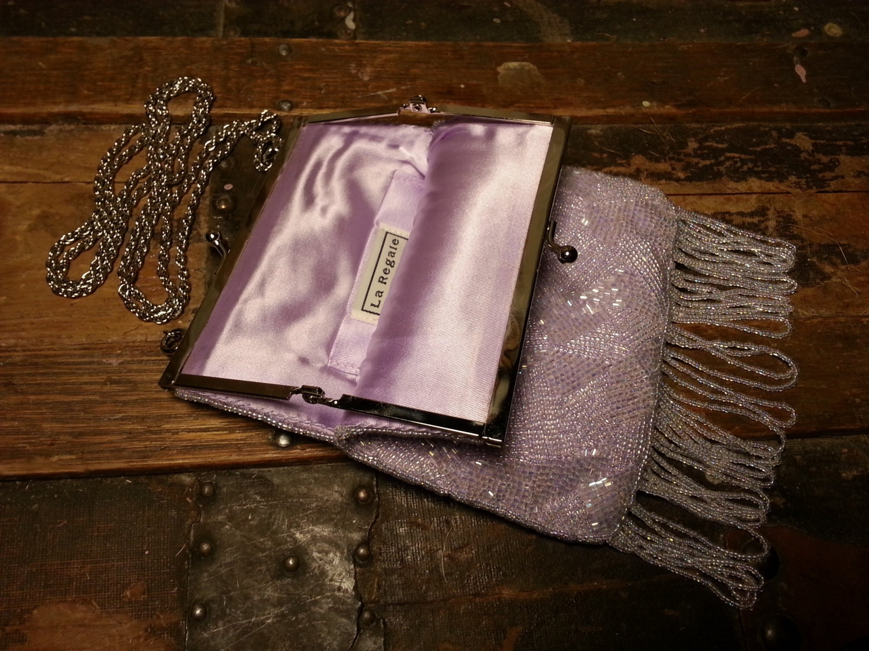 vintage la regale puple lilac beaded hanging bead fringe. Black Bedroom Furniture Sets. Home Design Ideas