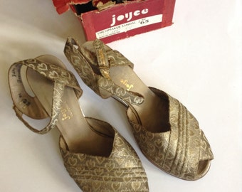 Vintage joyce wedge sandals 1930-40