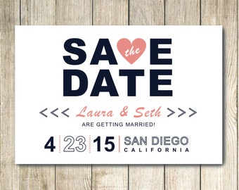 Custom Save the Date Postcard Announcement
