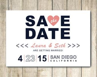 Custom Save the Date Postcard Announcement