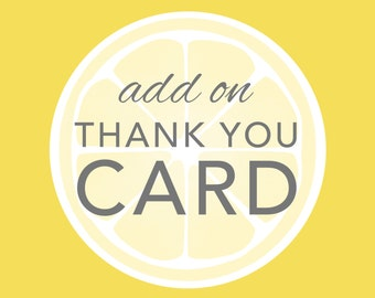Add On - Matching Thank You Card