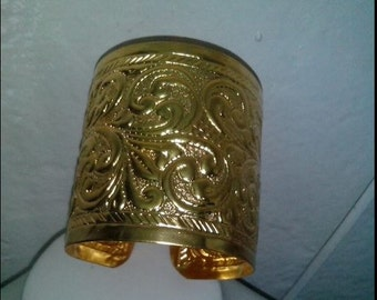 1 handmade brass cuff bracelet bangle