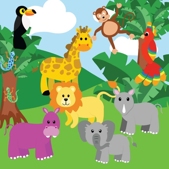 clipart of jungle animals - photo #43