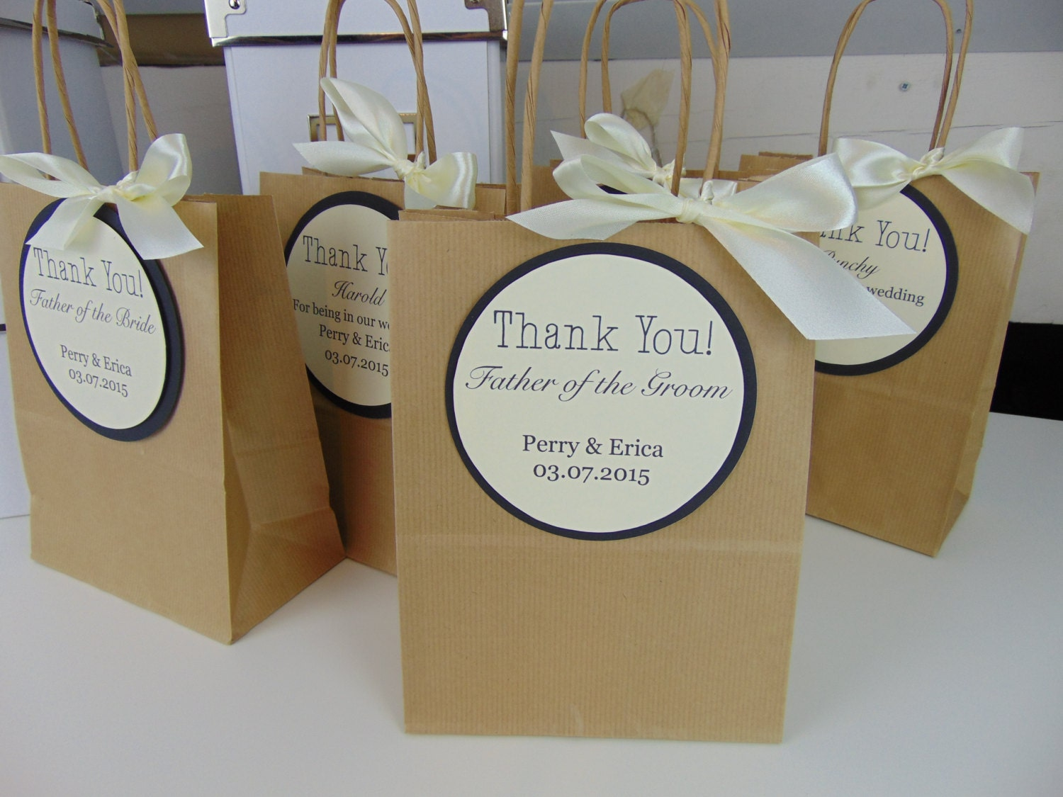 Thank You Wedding Gift Bags : Request a custom order and have something made just for you.