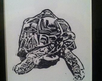 Turtle Linoblock Print 5x7