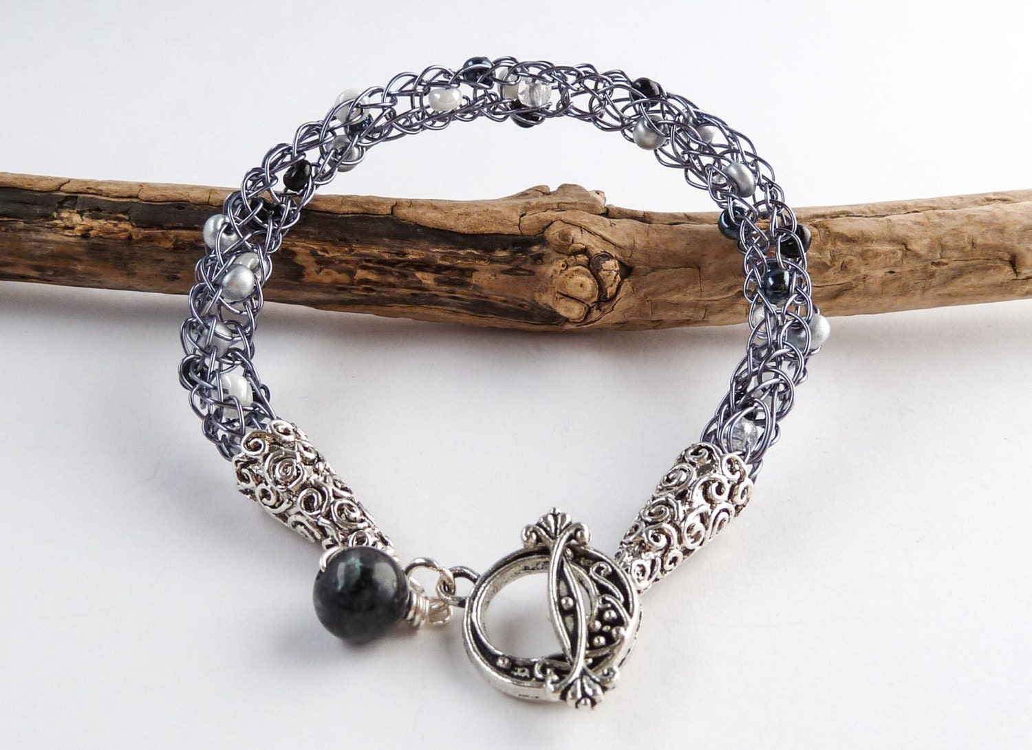 Viking Knit Jewelry Patterns : Viking Weave Beaded Bracelet Viking Knit by BeauBellaJewellery