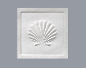 Embossed Shell Sticker Envelope Seals (Pack of 25)