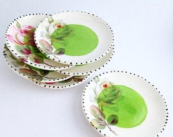 Sushi Plate - Soy Sauce Dish - Ceramic Sushi Plate - Ceramic Bowl - Small Ceramic Bowl - Set of 6 Small Dishes