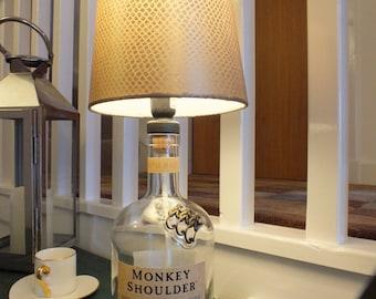 Monkey Shoulder Whisky Bottle Table Lamp