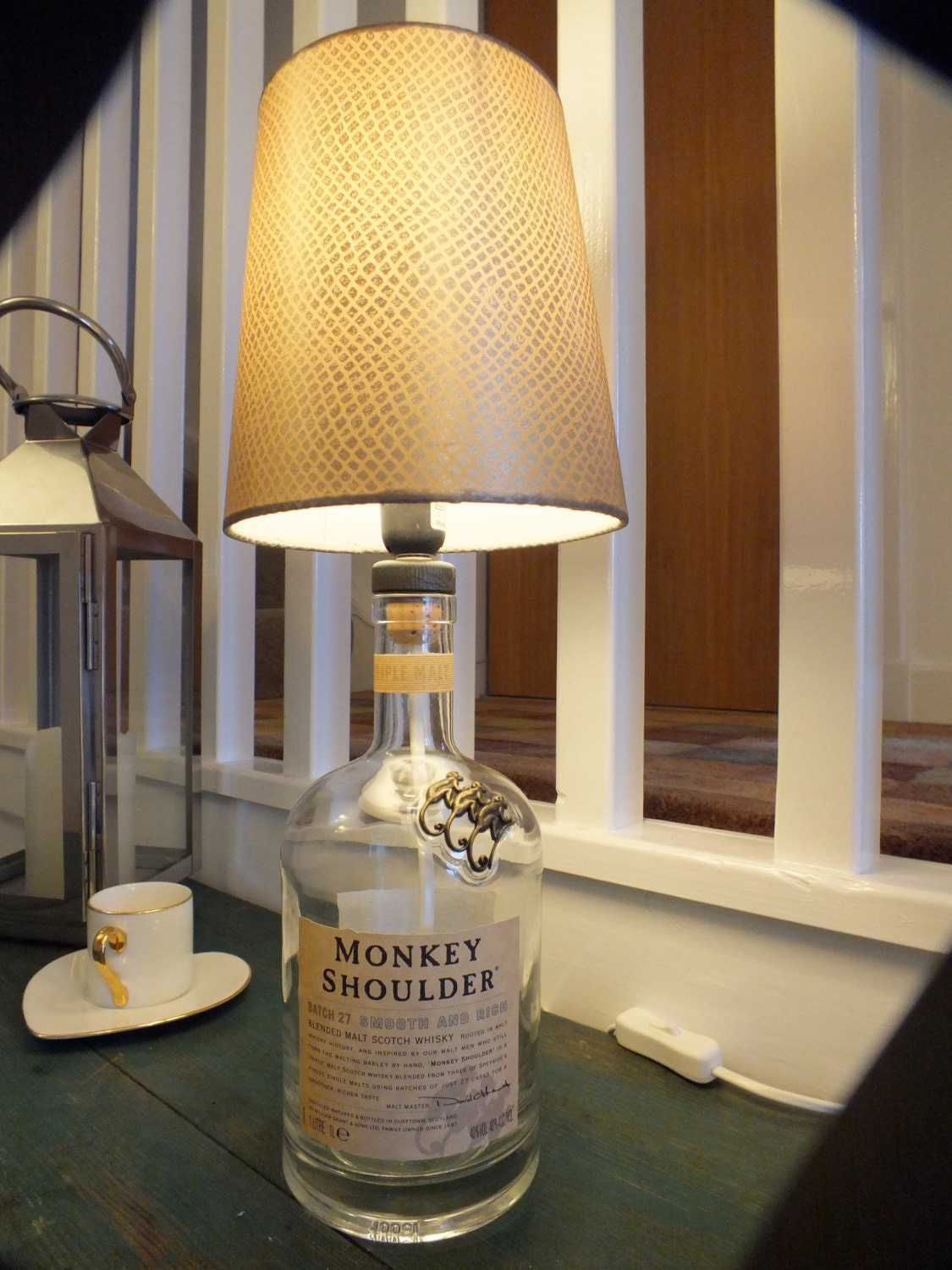 Monkey shoulder whisky bottle table lamp zoom geotapseo Gallery