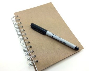 5 x 7 blank art sketchbook or 5.5 x 8.5 lined paper journal, travel journal, watercolor sketchbook, prayer diary, notebook journal