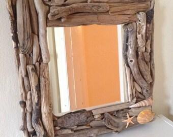 Driftwood mirror - handmade