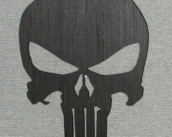 """11"""" Punisher Skull Laser Cut Wall Art Decor"""