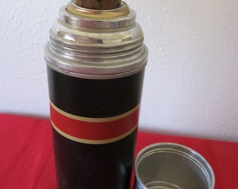 Vintage Thermos with Original Cork Stopper