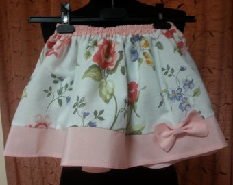 Skirt for girls from cotton. Clothing for girls. Summer skirt in the assembly. skirt, natural fabric