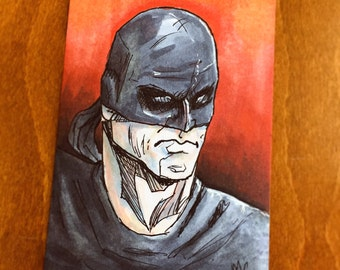 The Man Without Fear- Daredevil Sketch card