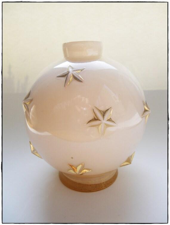 Vase ou pied de lampe en verre ancien - Vase ancien en verre ...