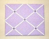 Purple Floral ribbon memory board - floral french memo board - purple room decor - ribbon bulletin board