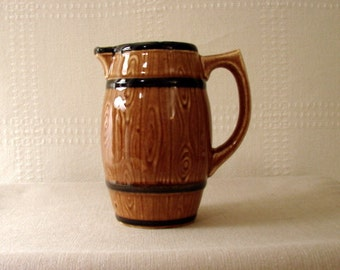 Czechoslovakian Barrel Shaped Pitcher