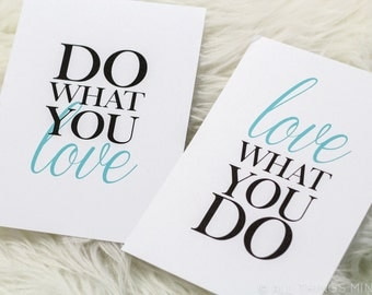 Do What You Love | Print Set | Home Decor