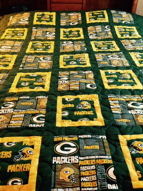 Green Bay Packer Twin Size Quilt By Bobbinsisters On Etsy