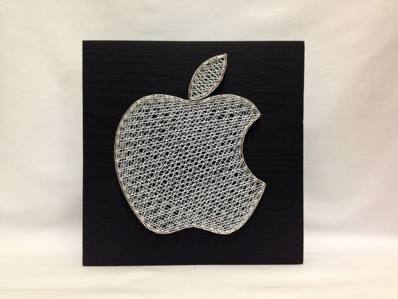 String Art Apple Icon Iphone Wall Art Wall Decor