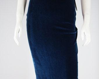 Velvet stretch pencil skirt XS,S,M
