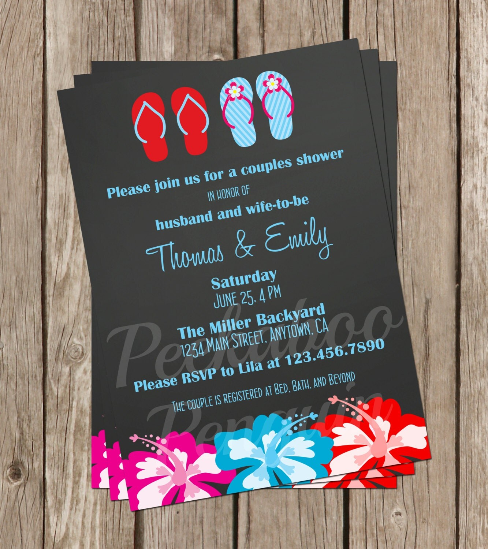 hawaiian bridal shower invite couples shower invitation
