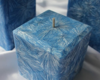 Fairytale Small Square Palm Pillar Candle