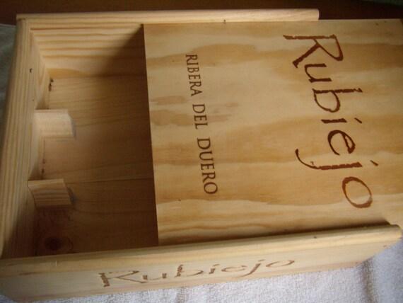 bo te en bois caisse de vin panneau de vin bo te de. Black Bedroom Furniture Sets. Home Design Ideas