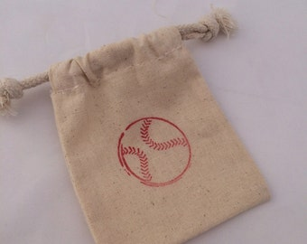 Baseball Party Favor Bags: 5+ Drawstring Sports Party Bags, Baseball Treat Bags