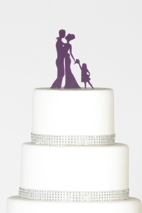 wedding cake toppers bride groom daughter and groom silhouette wedding cake topper by 26425