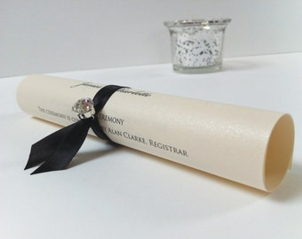 Order Of Day Scrolls, Wedding Programs, Order Of Service Cards, Wedding Scrolls, Service Sheets, programs