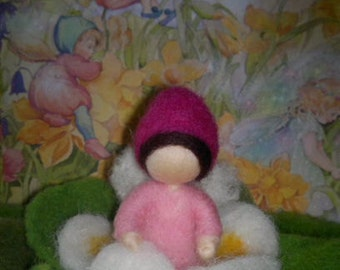 Spring Flower Needle Felted Wool. Waldorf inspired. Seasonal table. Home decoration