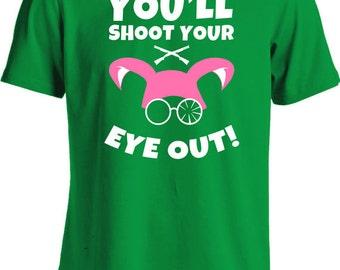 Christmas Story T Shirt Pink You'll Shoot Your Eye Out Kid Shirt Ralphie Gifts For Christmas Xmas Holiday Season Mens Tee MD-263