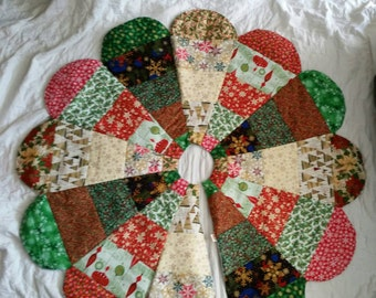 Quilted Christmas Tree Skirt, Quilted Tree Skirt, Quilted Tree Skirt, Handmade Christmas Tree Skirt