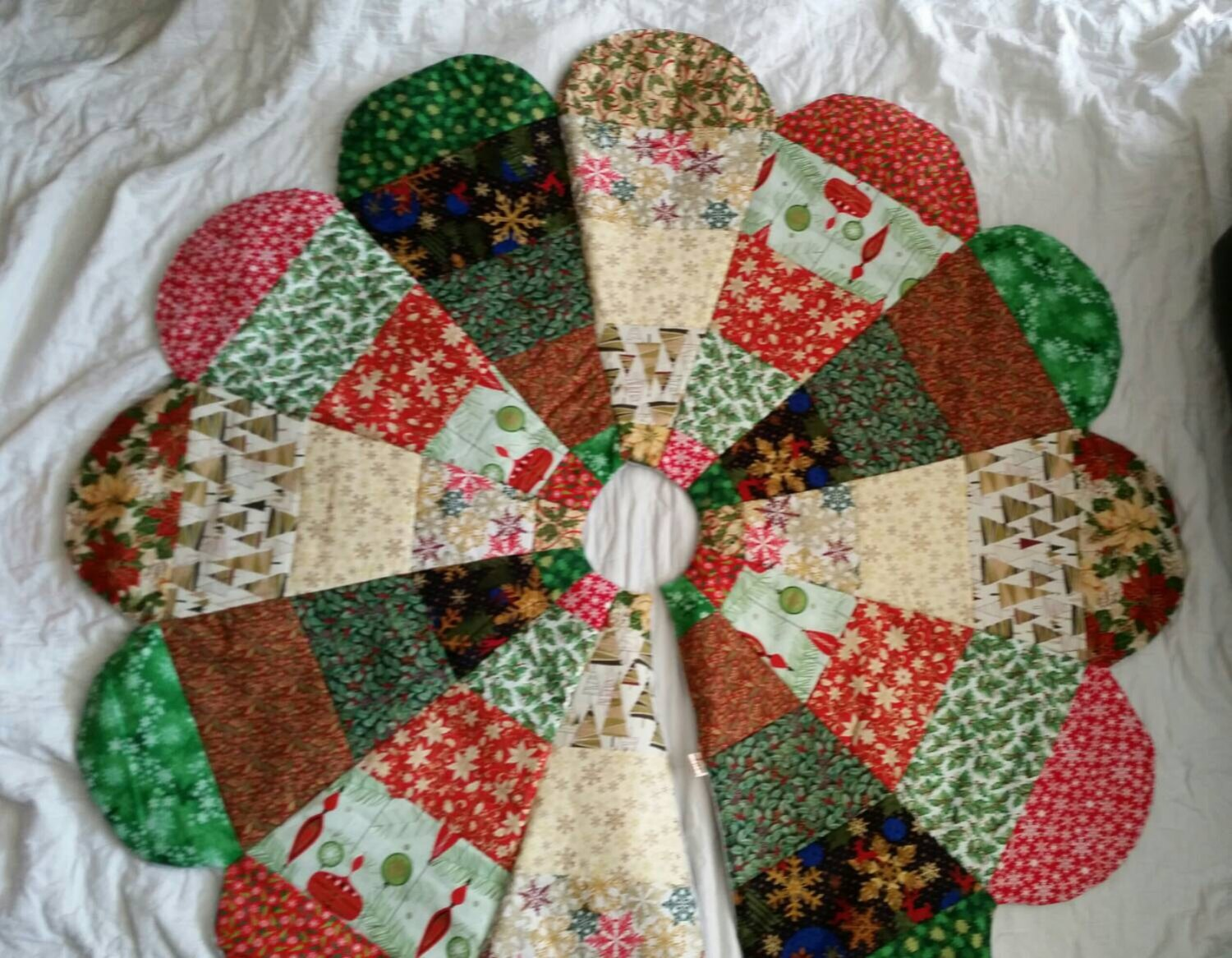 Quilted Christmas Tree Skirt Quilted Tree Skirt Quilted Tree