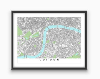London Art, London Map Print, England, UK United Kingdom, City Street Map