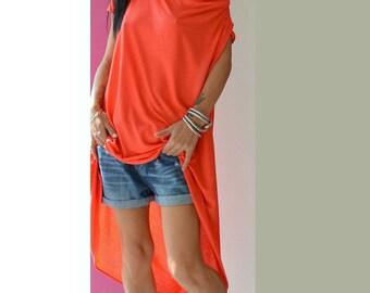Oversize Backless top /Tunic Dress / Loose maxi tunic / Long Blouse /  Tunic Top / Asymmetrical Top /Maxi tunic top / Plus size tunic top