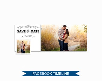 Facebook Timeline Cover Photoshop Template - FBEM04