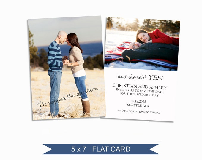Save the Date Template - 5x7 Digital Photography Photoshop Files - Template for Photographers - EM03 - INSTANT DOWNLOAD