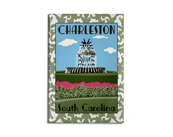 "Magnet: Charleston South Carolina, 2 1/8"" x 3 1/8"""